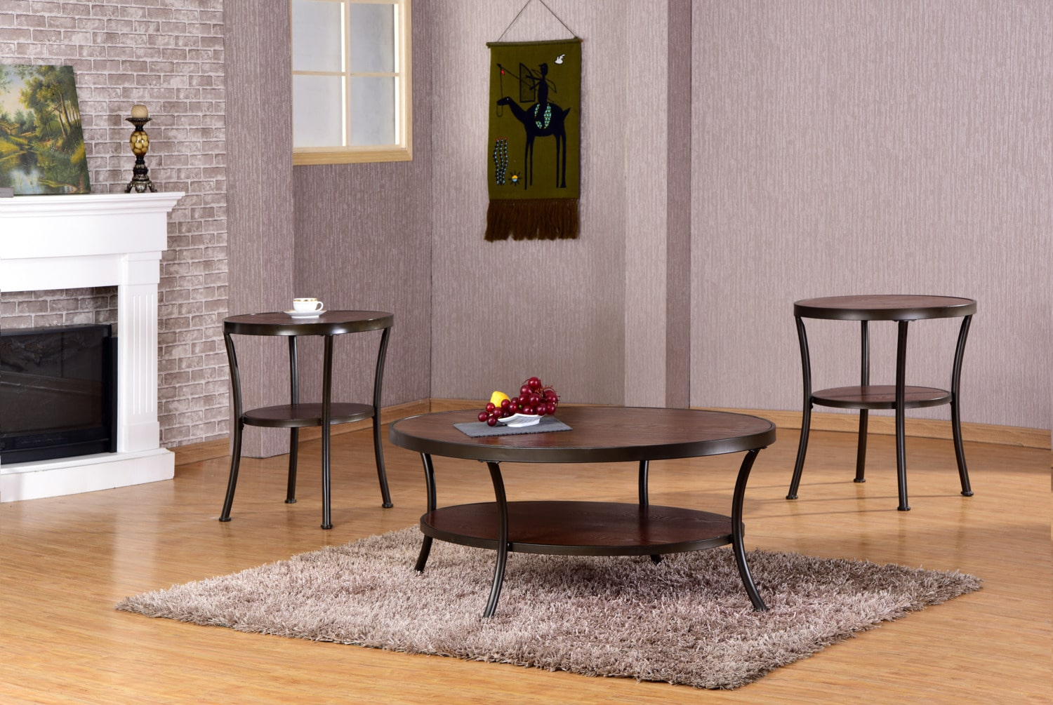 Palmer Coffee Table and Two End Tables - Brown