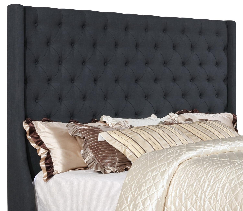 t te de lit madrid pour tr s grand lit grise brick. Black Bedroom Furniture Sets. Home Design Ideas