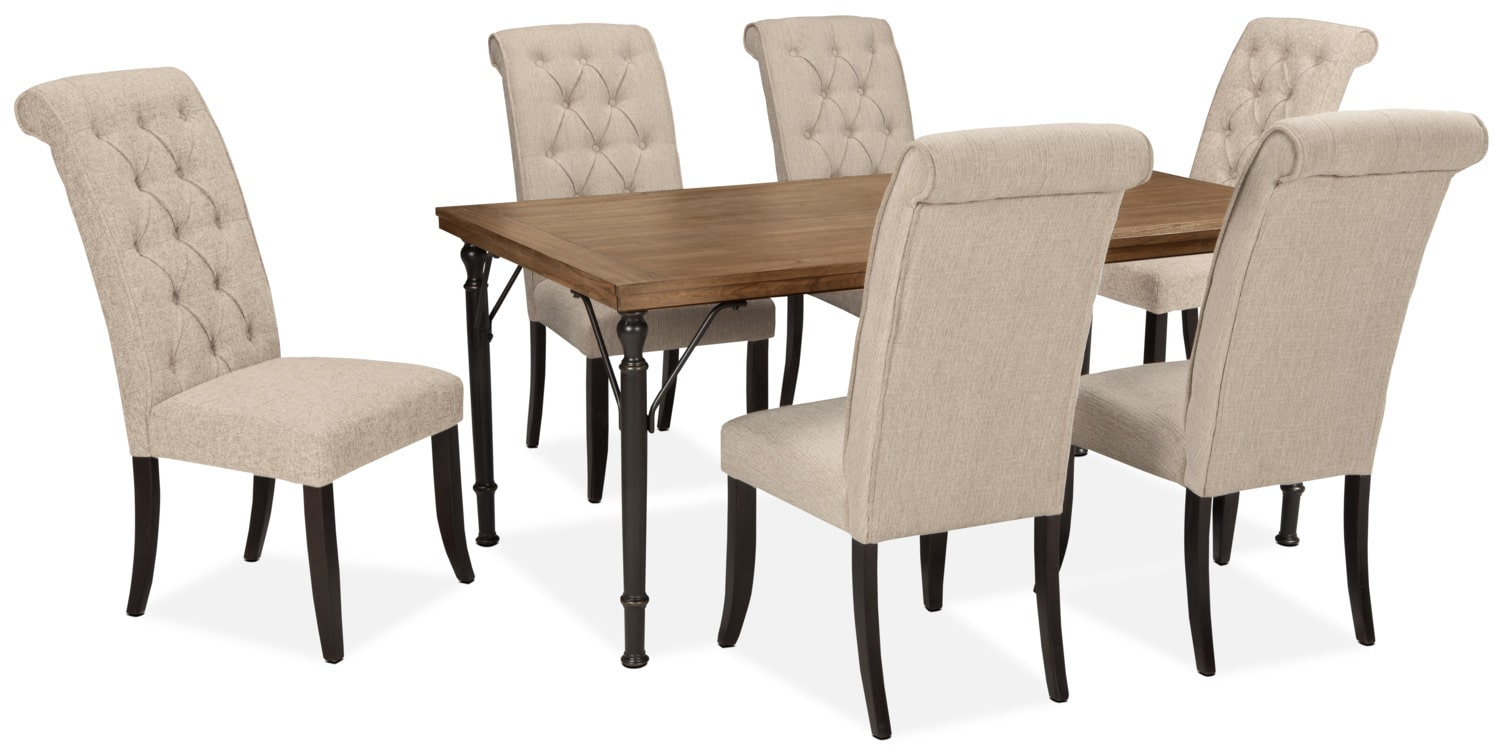 Tripton 7-Piece Dining Package – Linen