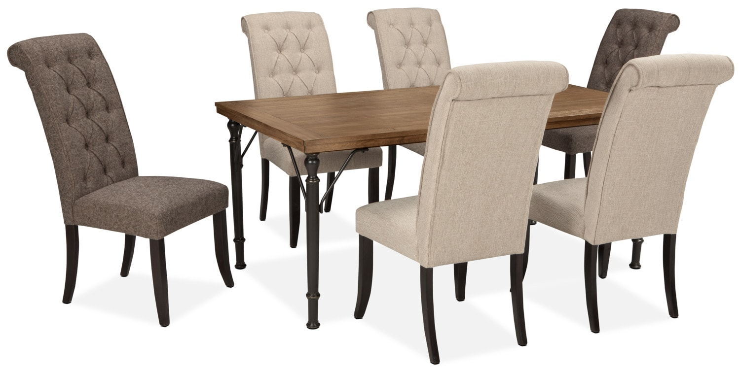 Dining Room Furniture - Tripton 7-Piece Mix 'N' Match Dining Package – Linen