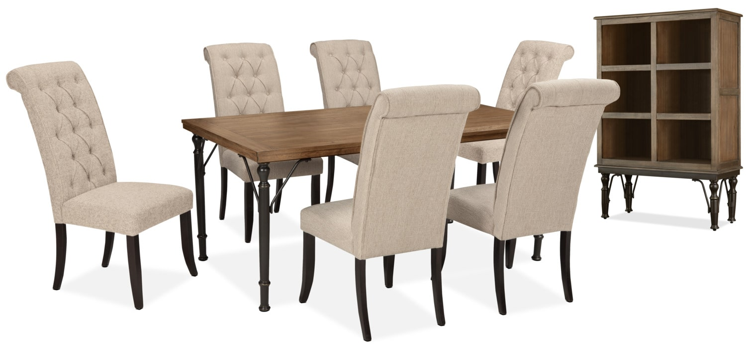 Dining Room Furniture - Tripton 8-Piece Dining Package – Linen