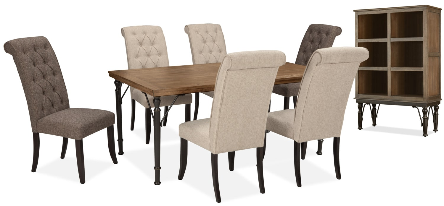 Dining Room Furniture - Tripton 8-Piece Mix 'N' Match Dining Package – Linen