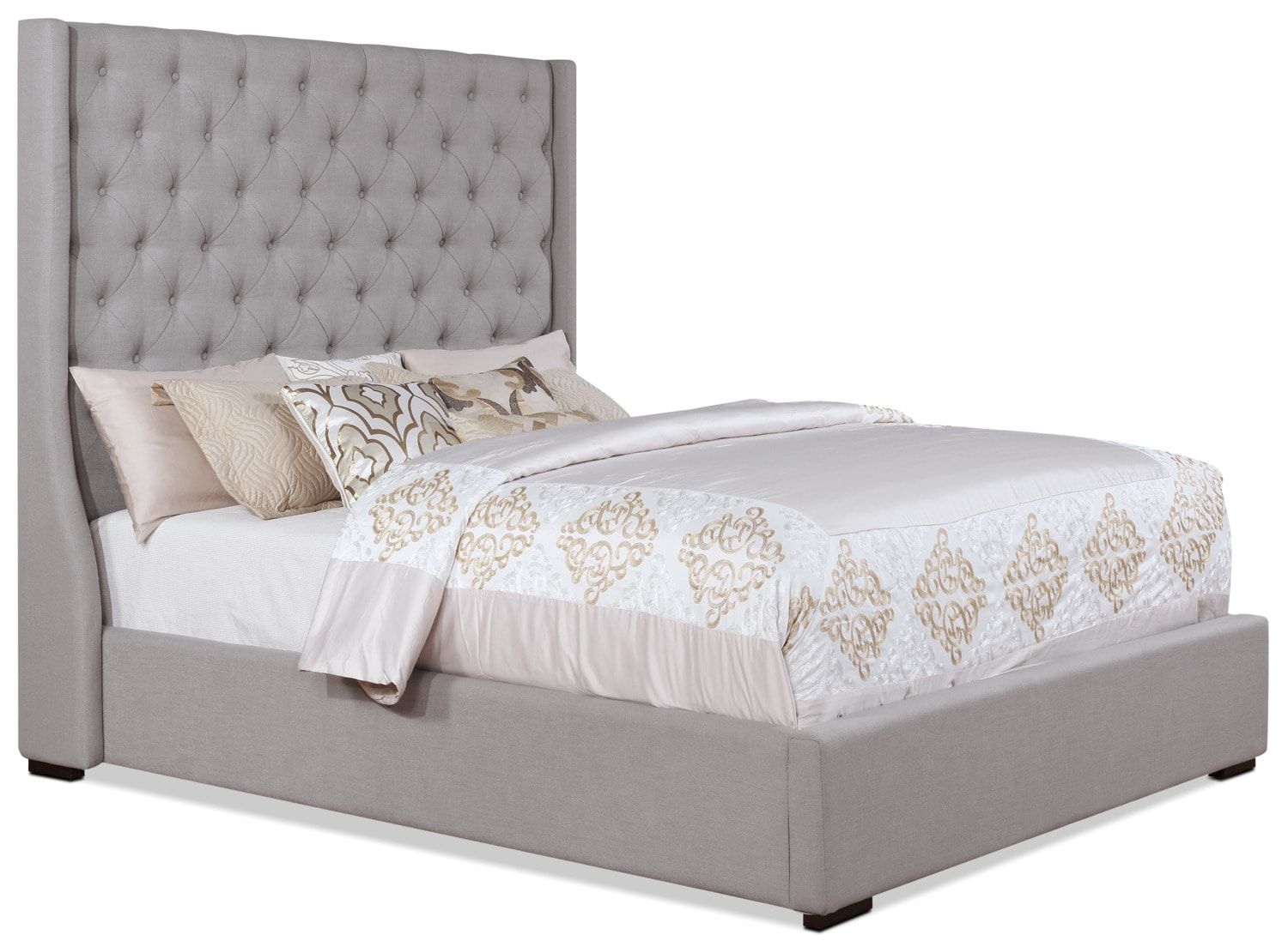 Madrid queen bed taupe the brick - Chambre a coucher taupe ...