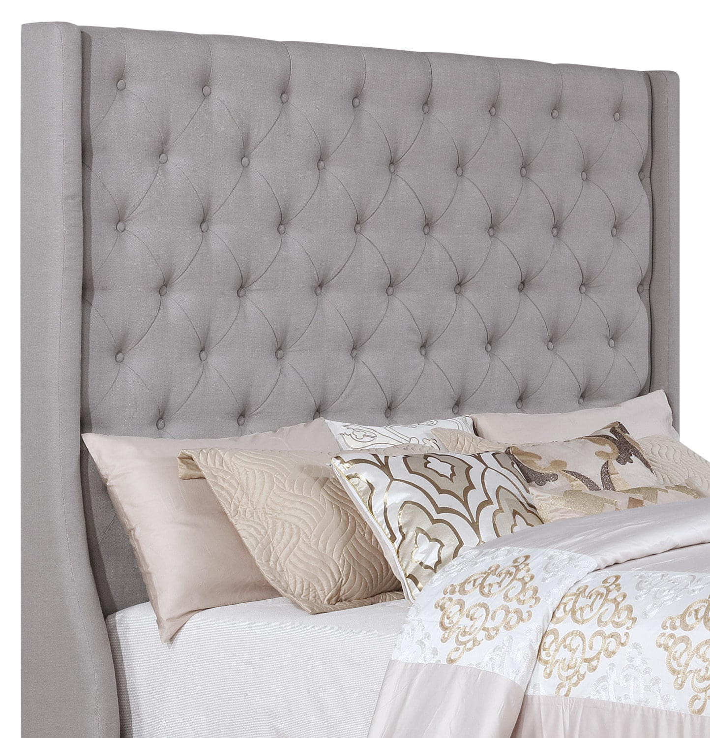 Madrid Queen Headboard – Taupe