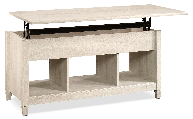 Décoratif et Occasionnel - Table à café Edge Water avec dessus relevable - marron blanchi