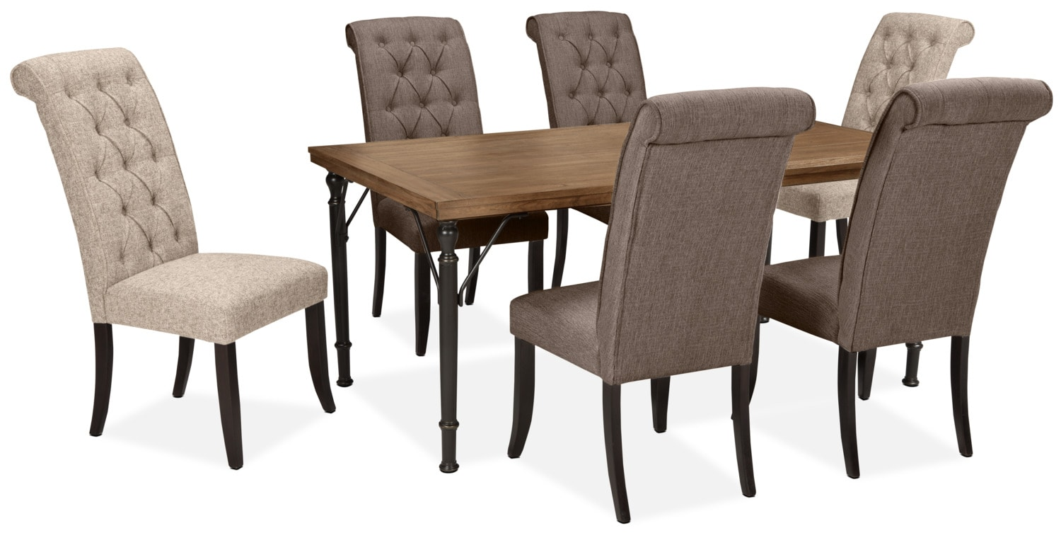 Dining Room Furniture - Tripton 7-Piece Mix 'N' Match Dining Package – Graphite