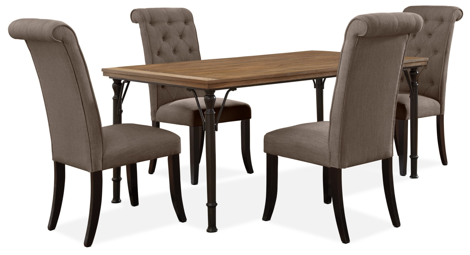 Dining Room Furniture - Tripton 5-Piece Dining Package – Graphite