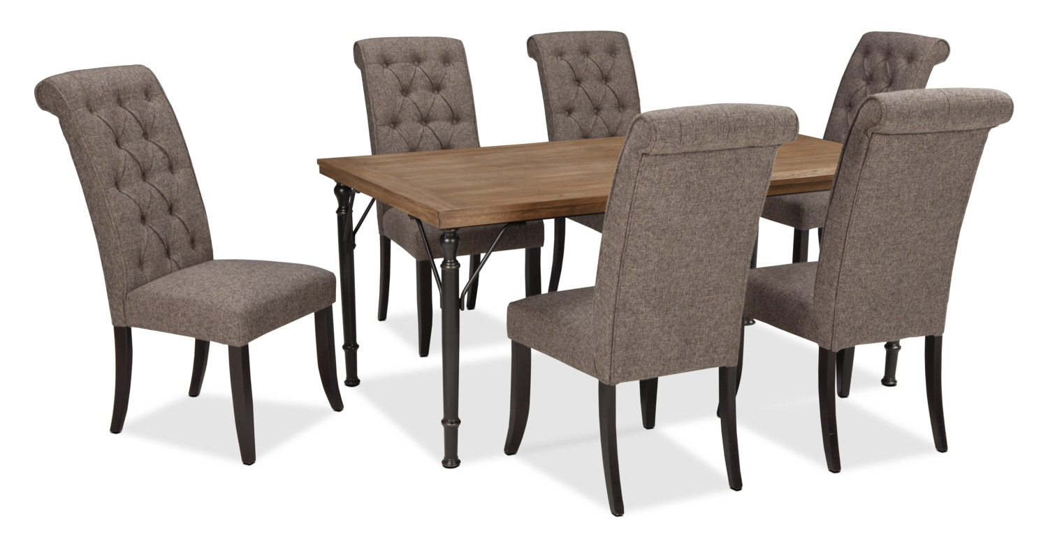 Dining Room Furniture - Tripton 7-Piece Dining Package – Graphite
