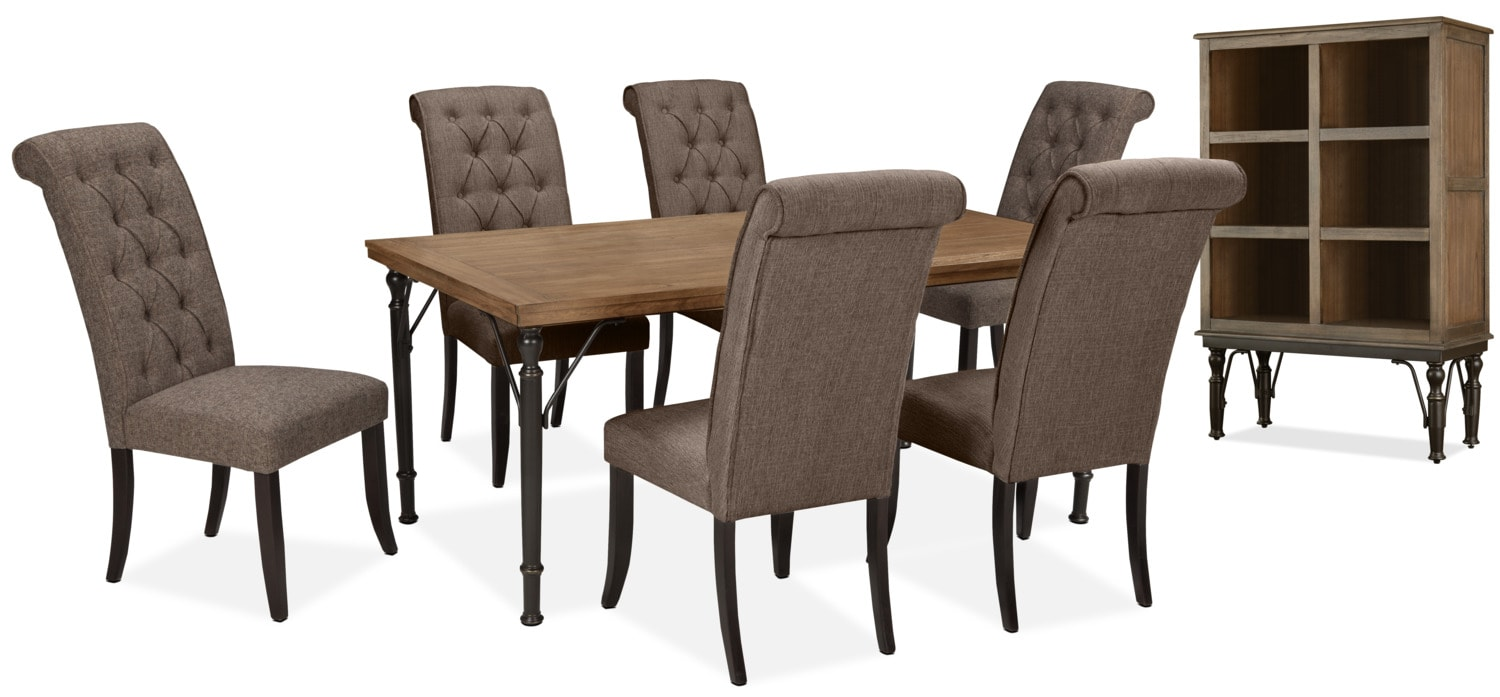 Tripton 8-Piece Dining Package – Graphite