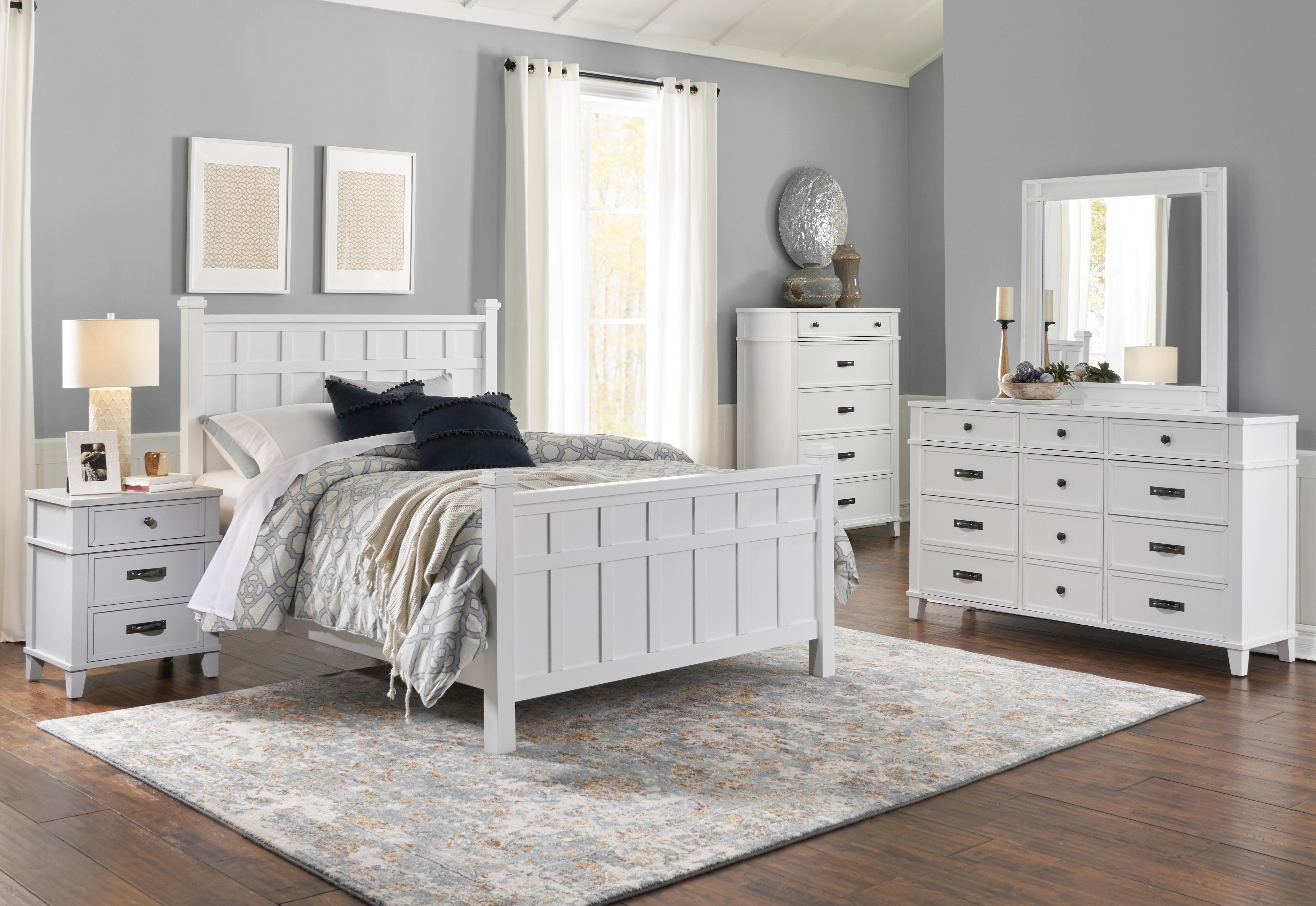 Felicity White 4pc Queen Bedroom