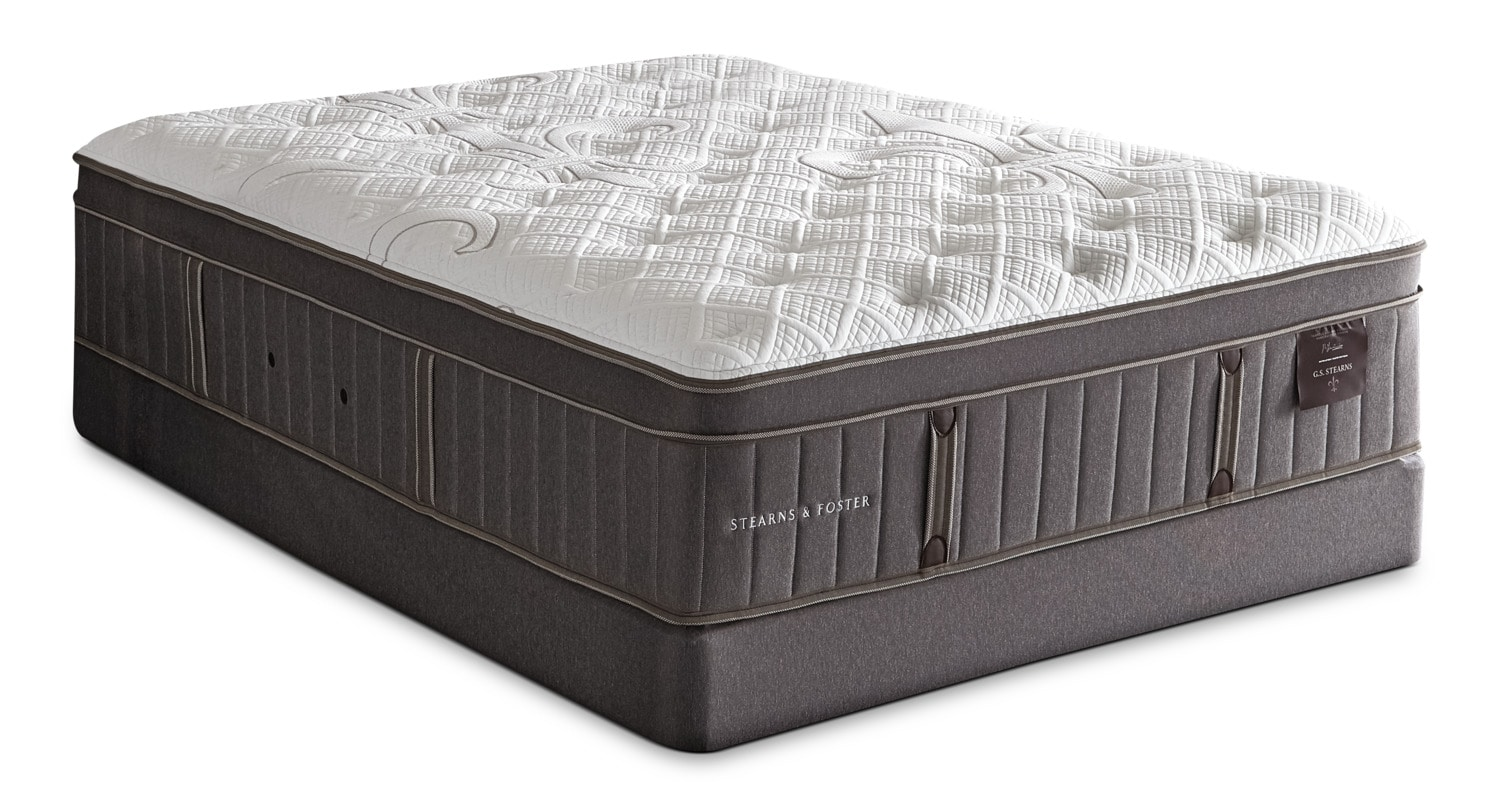 Mattresses and Bedding - Stearns & Foster Marina Bay Euro-Top Plush King Mattress Set