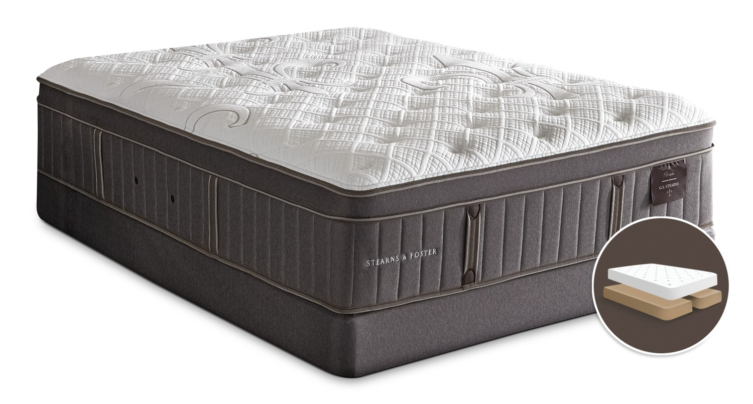 Stearns & Foster Marina Bay Euro-Top Plush Split Queen Mattress Set