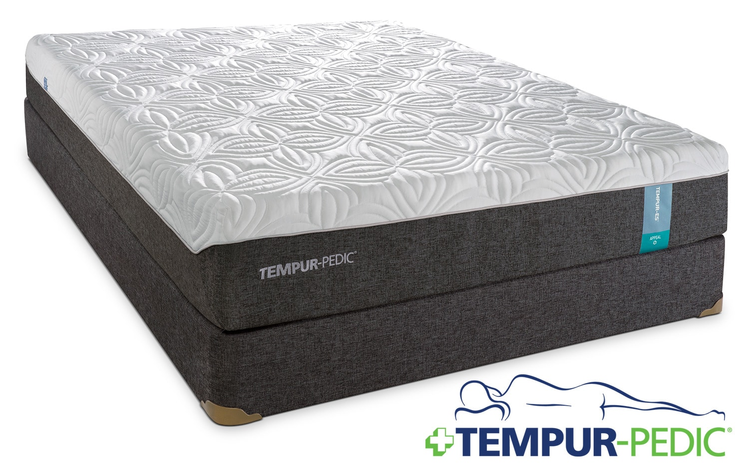 tempur pedic appeal 2 0 cushion firm queen mattress and boxspring set leon 39 s. Black Bedroom Furniture Sets. Home Design Ideas