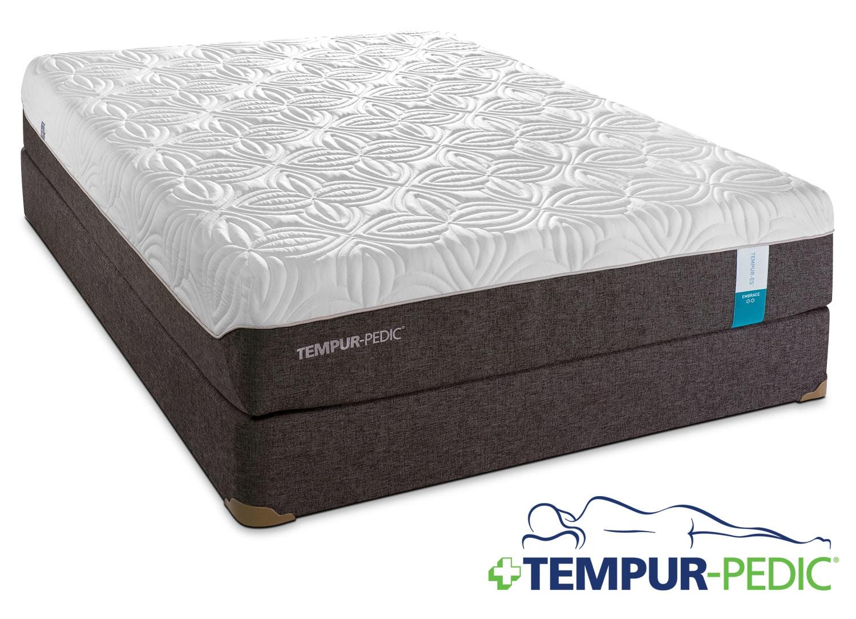 Tempur Pedic Embrace 2 0 Plush Queen Mattress And Boxspring Set Leon 39 S