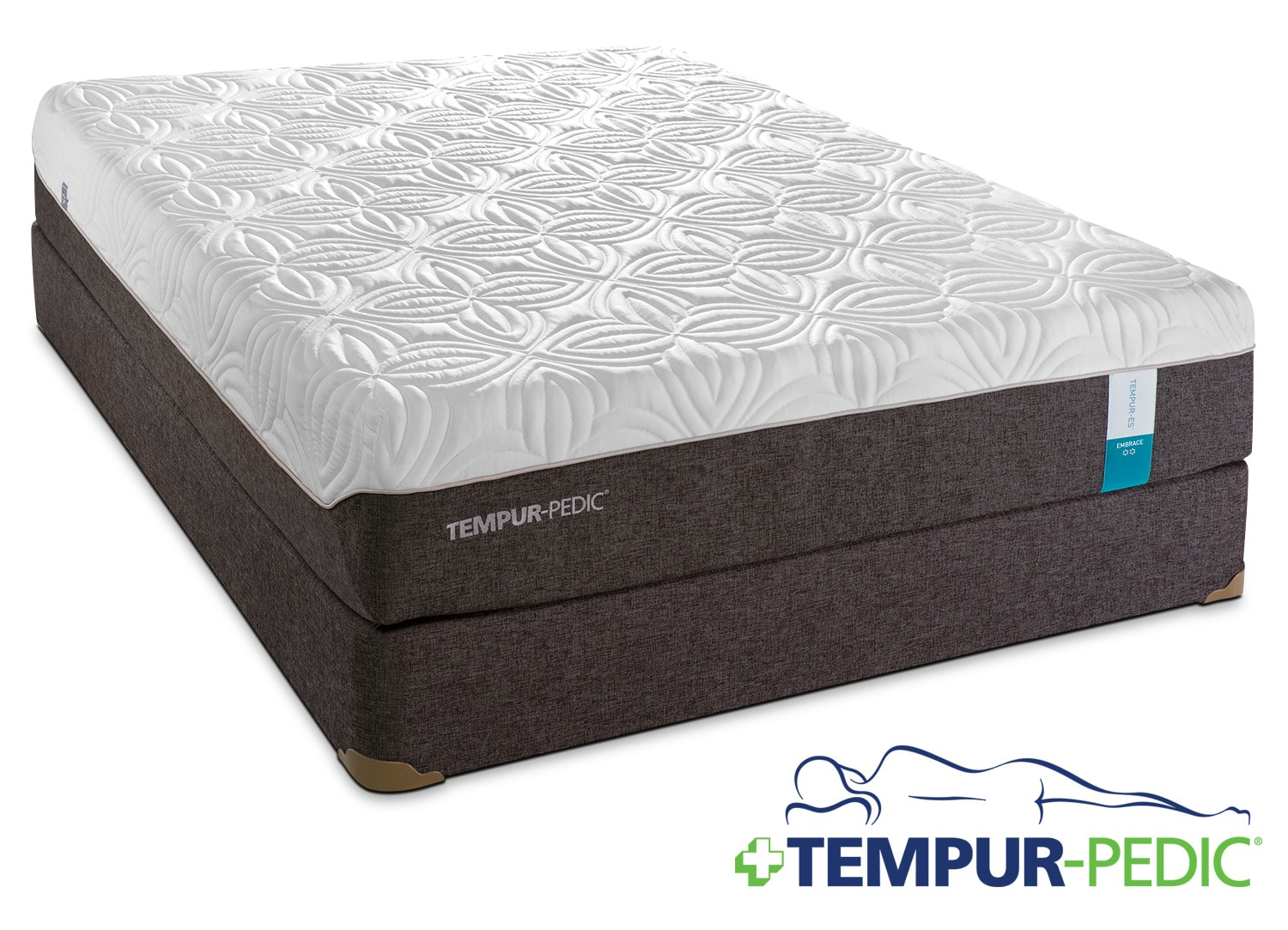 Tempur-Pedic Embrace 2.0 Plush Full Mattress and Boxspring Set