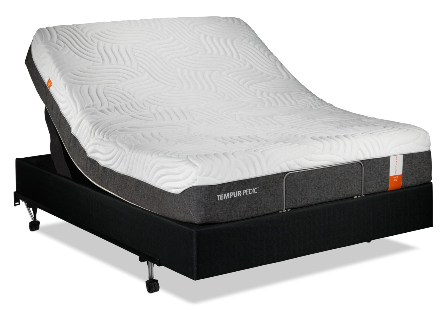 Tempur Pedic Sense 2 0 Firm King Mattress And Split Adjustable Head Up Base Set Leon 39 S