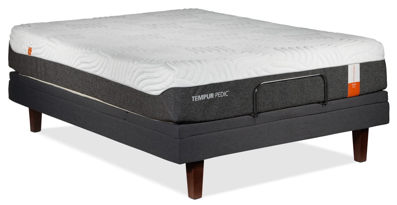 Tempur Pedic Sense 2 0 Firm King Mattress And Split Complete Adjustable Base Set Leon 39 S