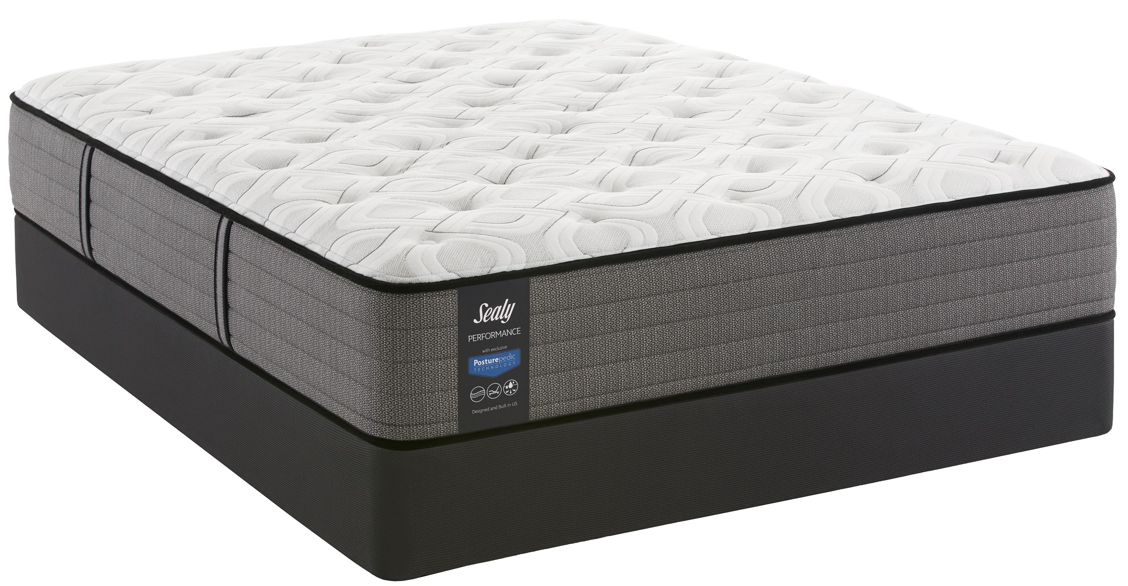 Morning Dove Cushion Firm Queen Mattress and Split Boxspring Set