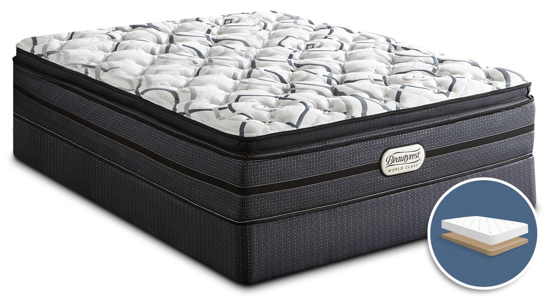 Mattresses and Bedding - Beautyrest® World Class Millen Pillow-Top Luxury Firm Low-Profile Full Mattress Set