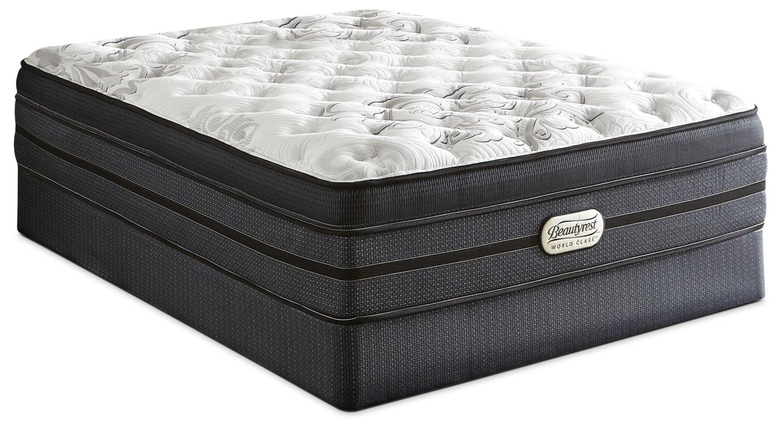 Matelas et sommiers - Ensemble moelleux à dessus confort épais Jasmine World Class de Beautyrest pour grand lit