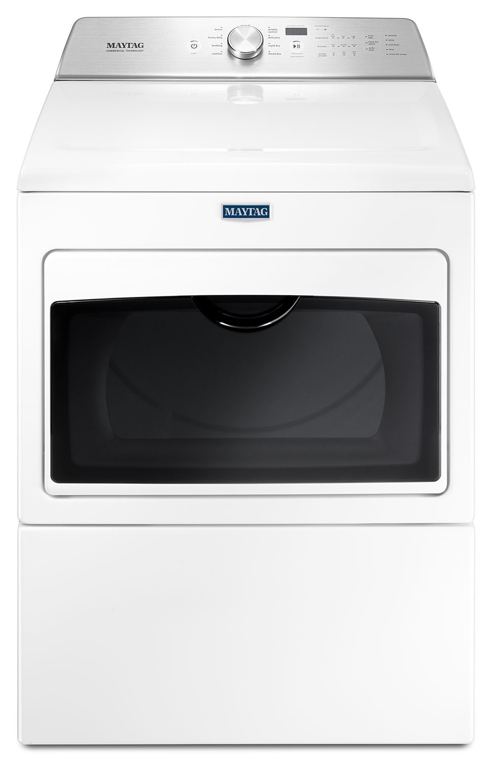 Washers and Dryers - Maytag White Electric Dryer (7.4 Cu. Ft.) - YMEDB765FW