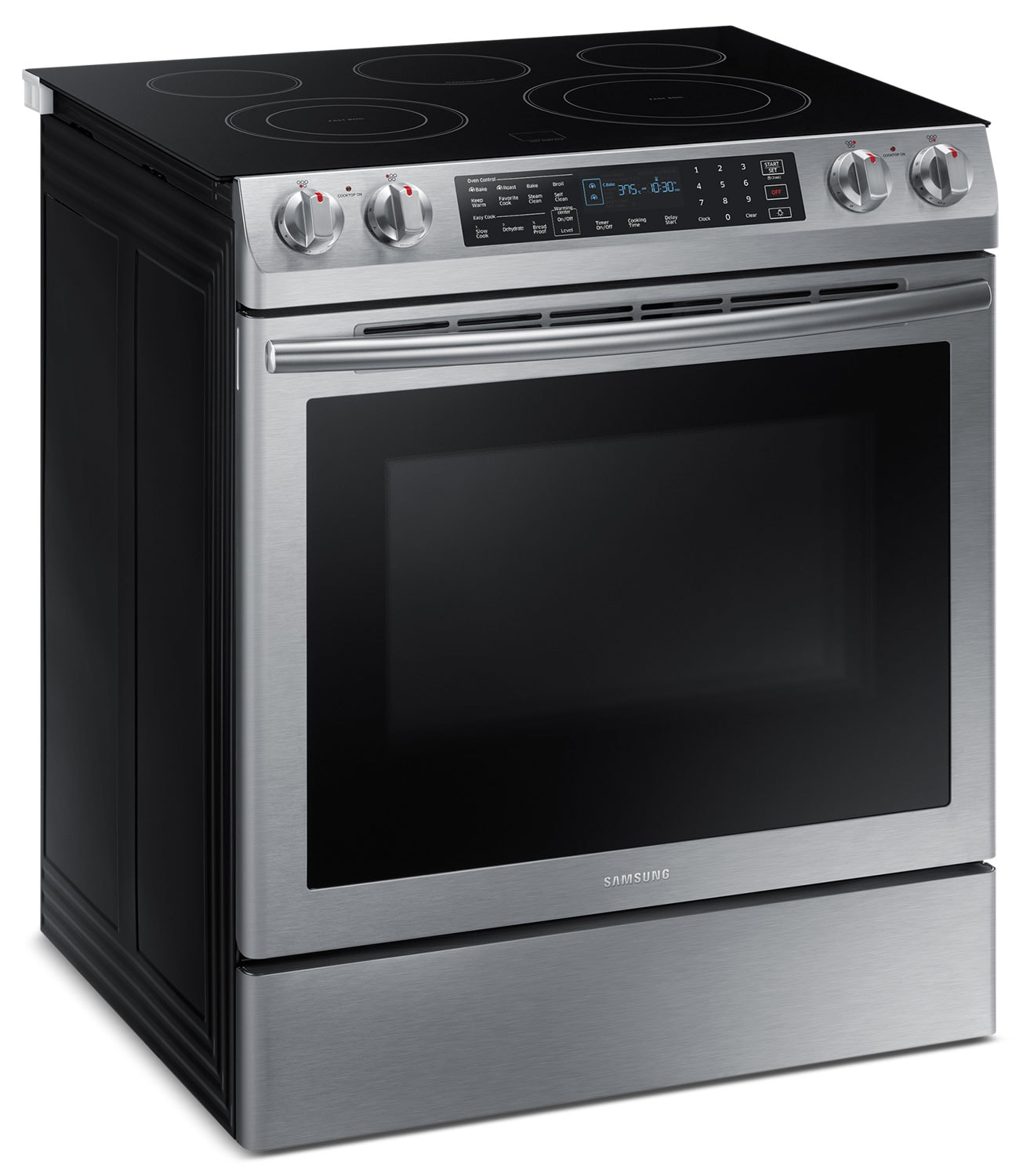 samsung 5 8 cu ft electric slide in dual convection range ne58m9430ss ac the brick. Black Bedroom Furniture Sets. Home Design Ideas