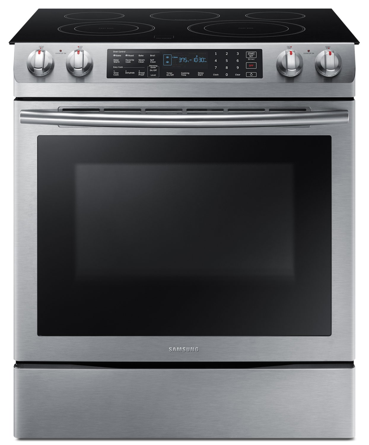 Cooking Products - Samsung 5.8 Cu. Ft. Electric Slide-In Dual Convection Range – NE58M9430SS/AC