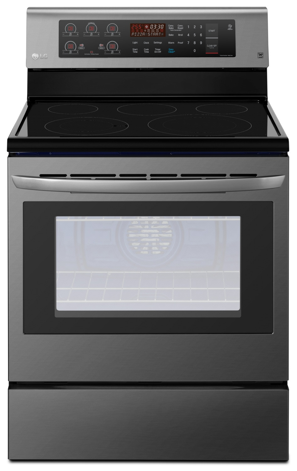 LG 6.3 Cu. Ft. Freestanding Convection Electric Range – LRE3193BD