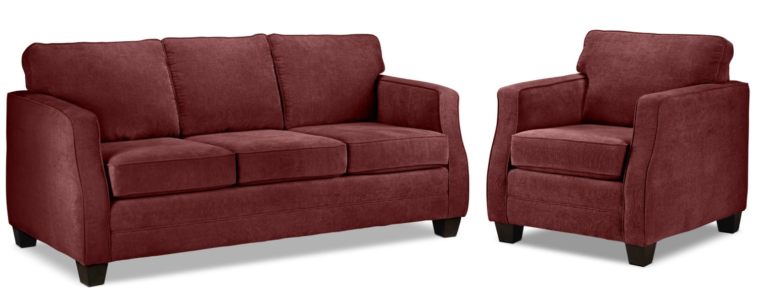 Agnes Sofa and Chair - Merlot