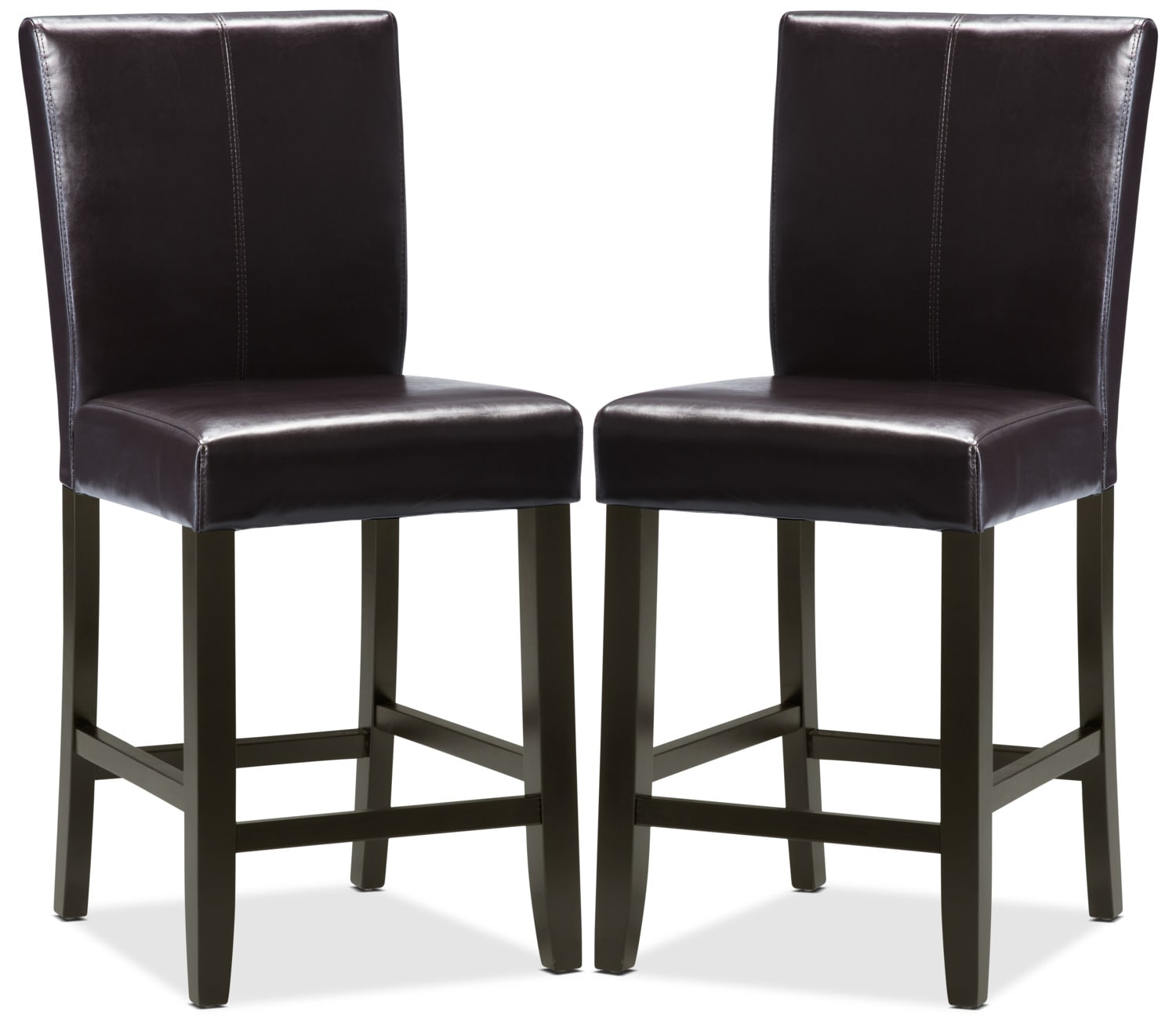 Kendall Brown Accent Counter Chairs, Set of 2