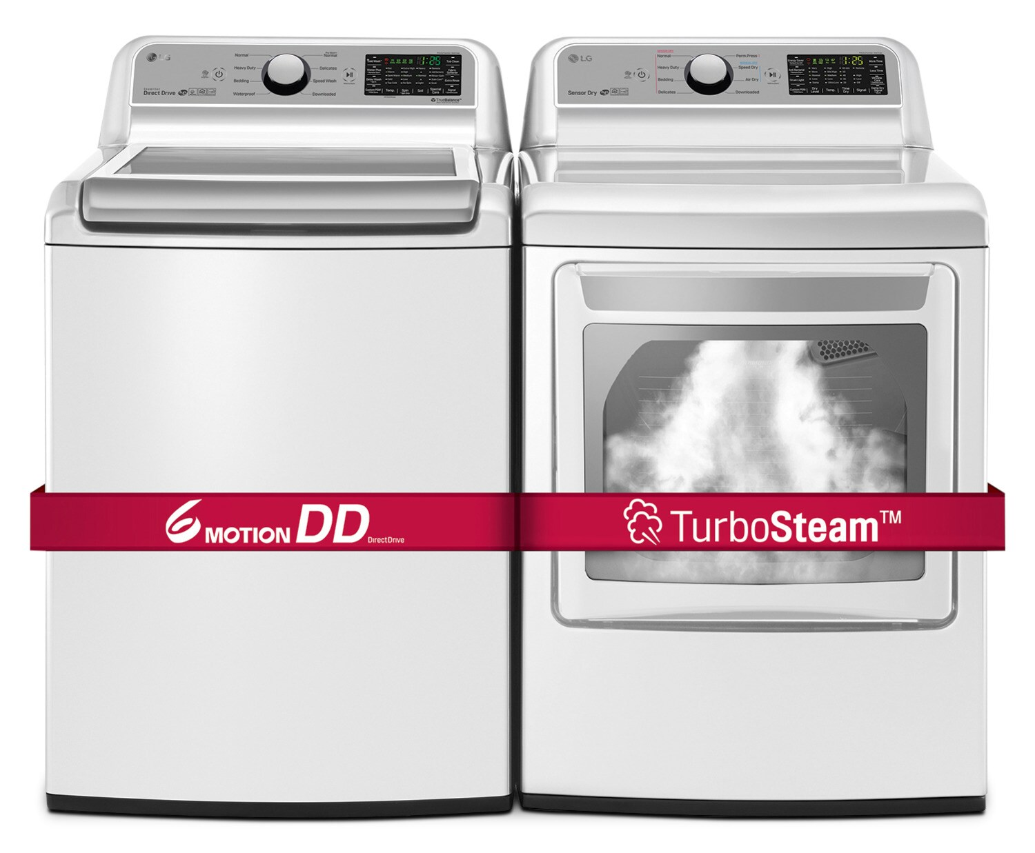 LG 5.8 Cu. Ft. Top-Load Washer and 7.3 Cu. Ft. Electric Dryer