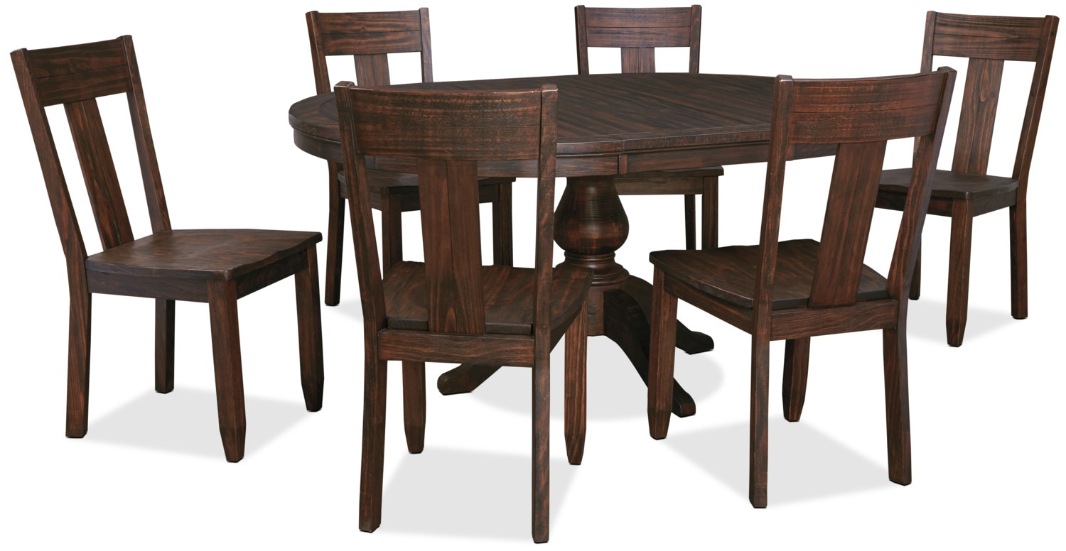 Dining Room Furniture - Trudell 7-Piece Round Dining Package