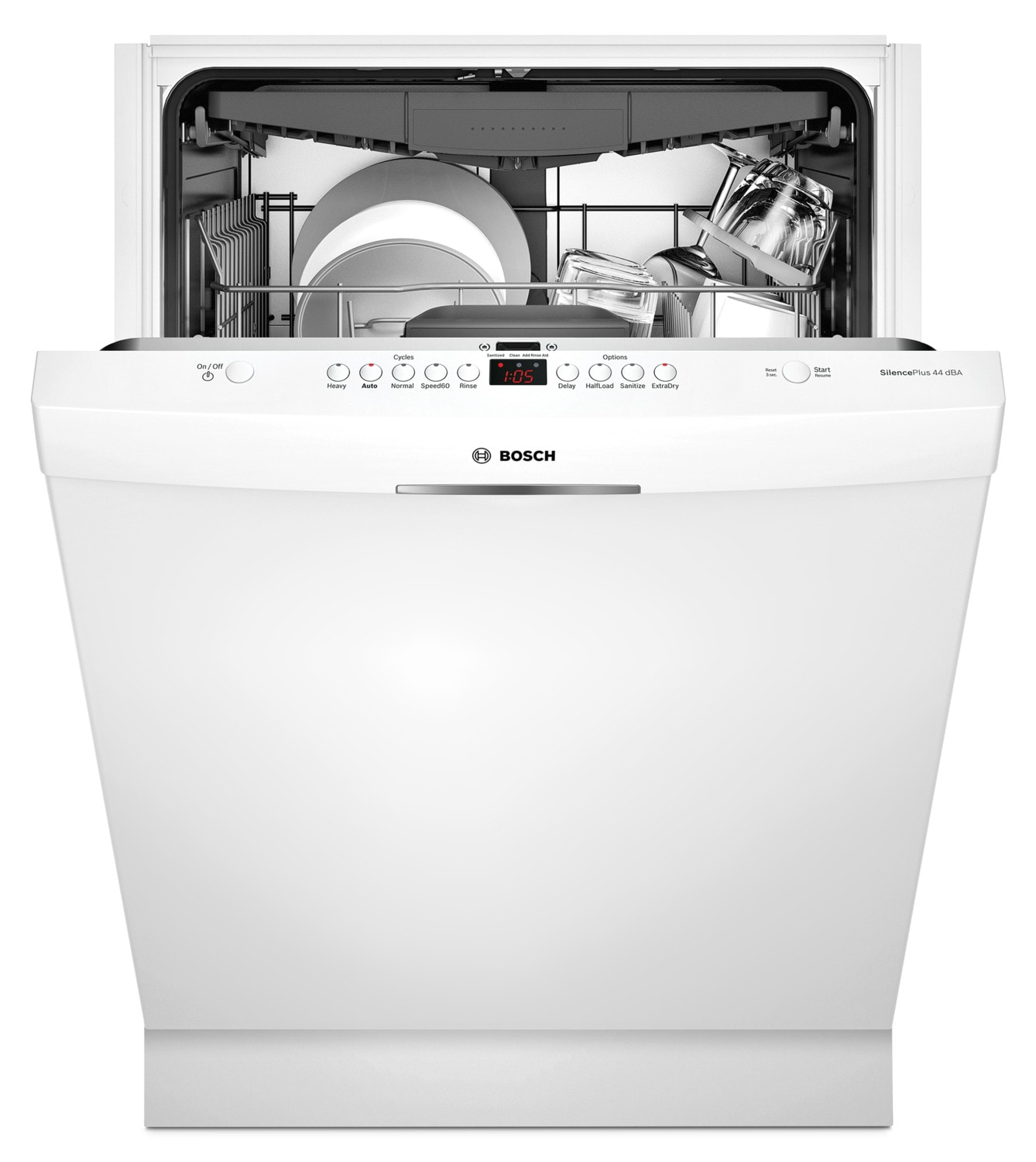 Bosch 300 Series Scoop Handle Built-In Dishwasher – SHSM63W52N