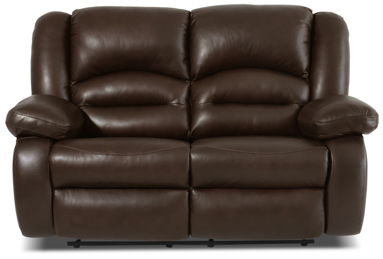 Living Room Furniture - Toreno Genuine Leather Power Reclining Loveseat – Brown