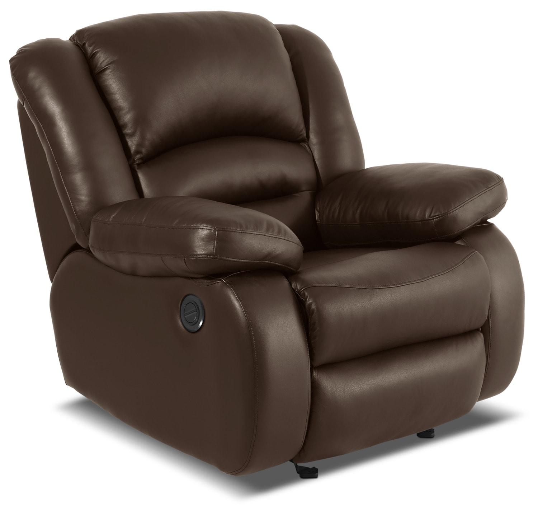 Mobilier de salle de séjour - Fauteuil à inclinaison électrique Toreno en cuir véritable - brun