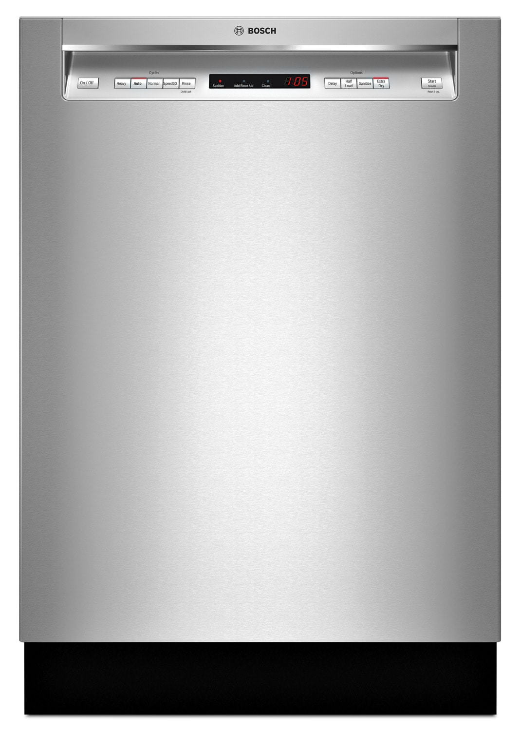 Bosch 300 Series Recessed Handle Built-In Dishwasher – SHEM63W55N