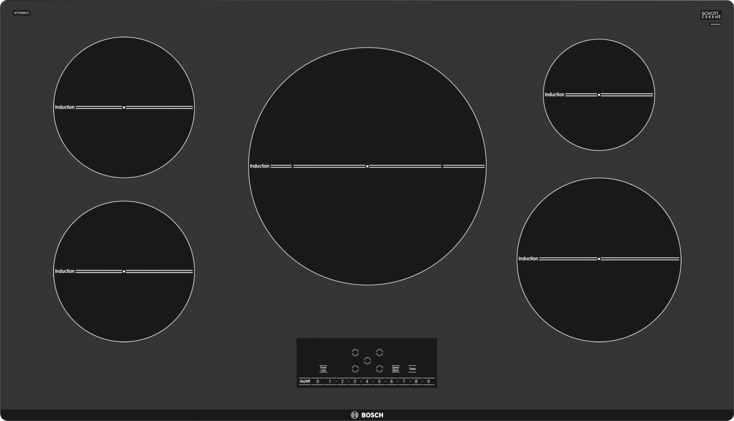 "Bosch 500 Series 30"" Induction Cooktop – NIT5068UC"