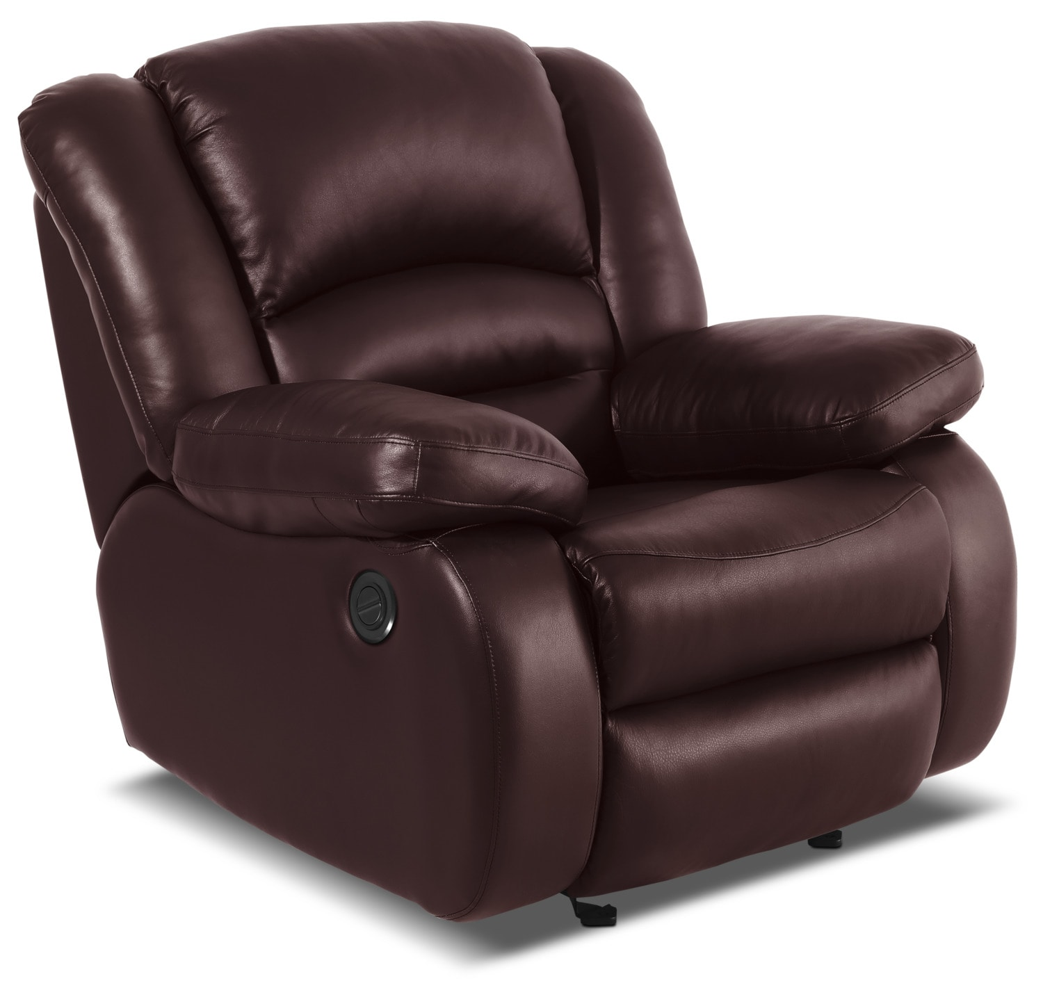 Toreno Genuine Leather Power Reclining Chair – Burgundy