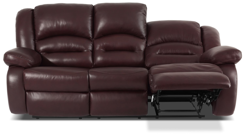 Sofa inclinable toreno en cuir v ritable bourgogne brick for Sofa en liquidation