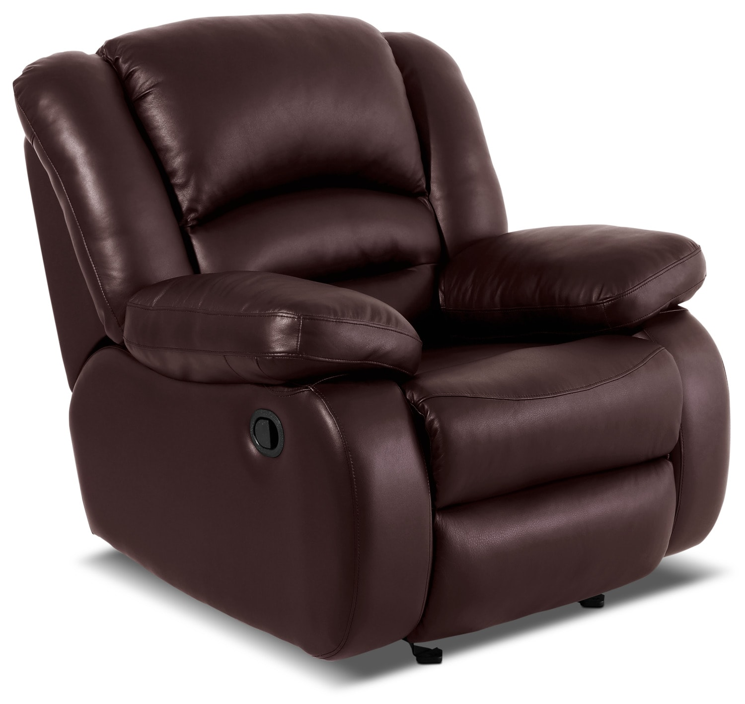 Toreno Genuine Leather Reclining Chair – Burgundy