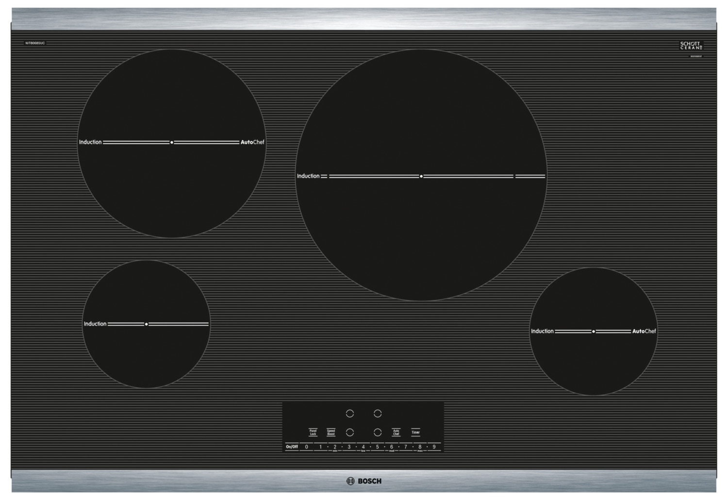 "Cooking Products - Bosch 800 Series 30"" Induction Cooktop – NIT8068SUC"