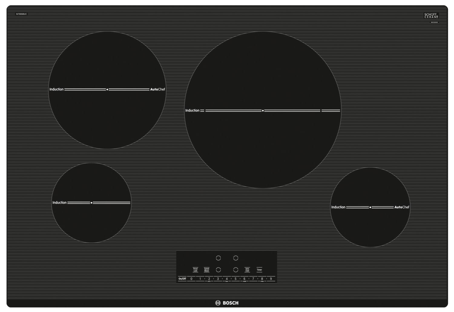 "Bosch 800 Series 30"" Induction Cooktop – NIT8068UC"
