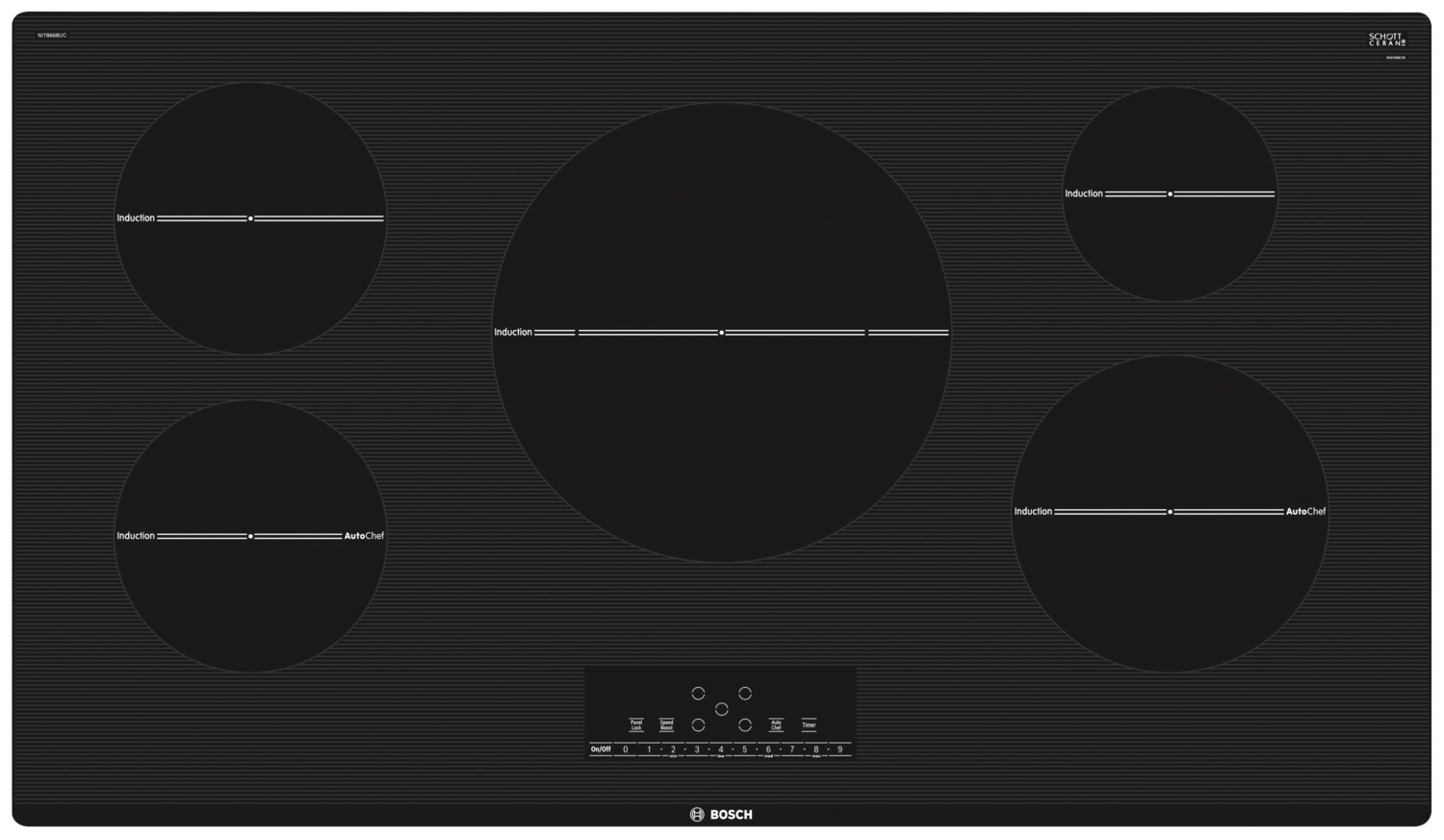 "Bosch 800 Series 36"" Induction Cooktop – NIT8668UC"