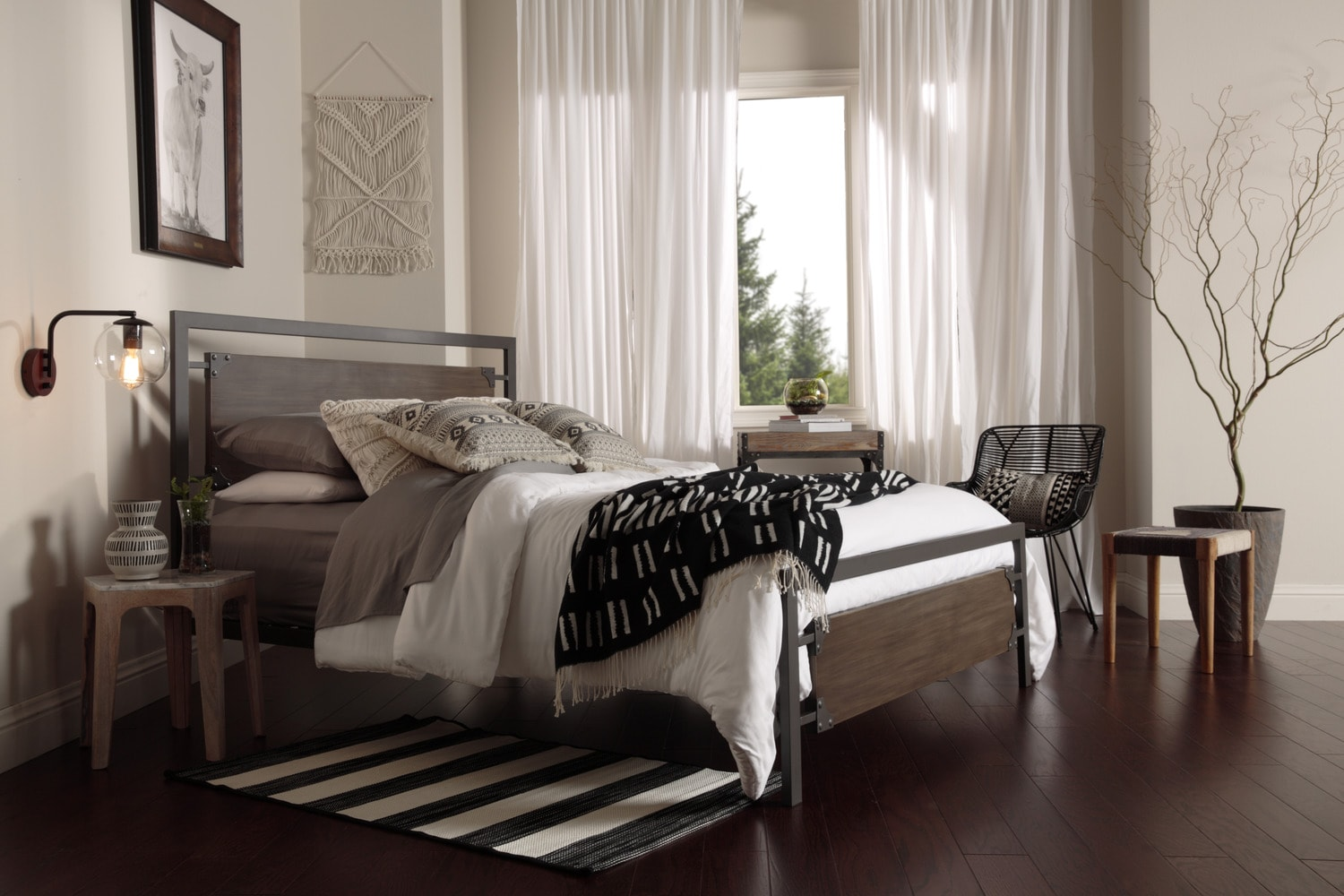 Bedroom Furniture - Citybed Full Bed - Barn Grey