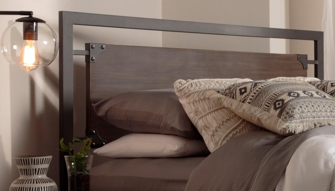 Chambre à coucher - Citybed Tête de lit grand - gris de grange