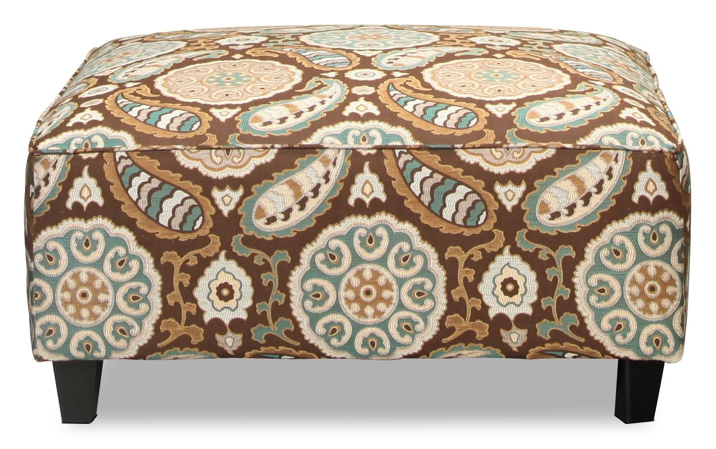 Living Room Furniture - Brookside Cocktail Ottoman