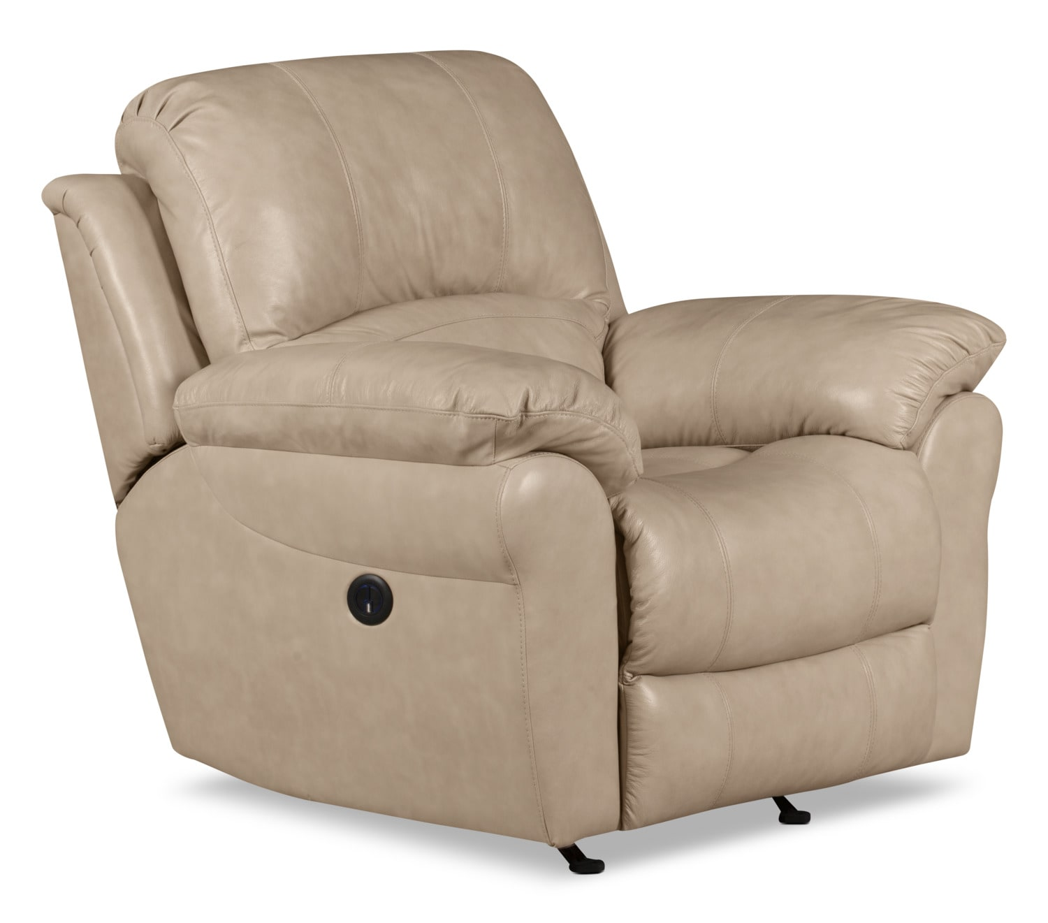 Living Room Furniture - Kobe Genuine Leather Power Reclining Chair – Stone