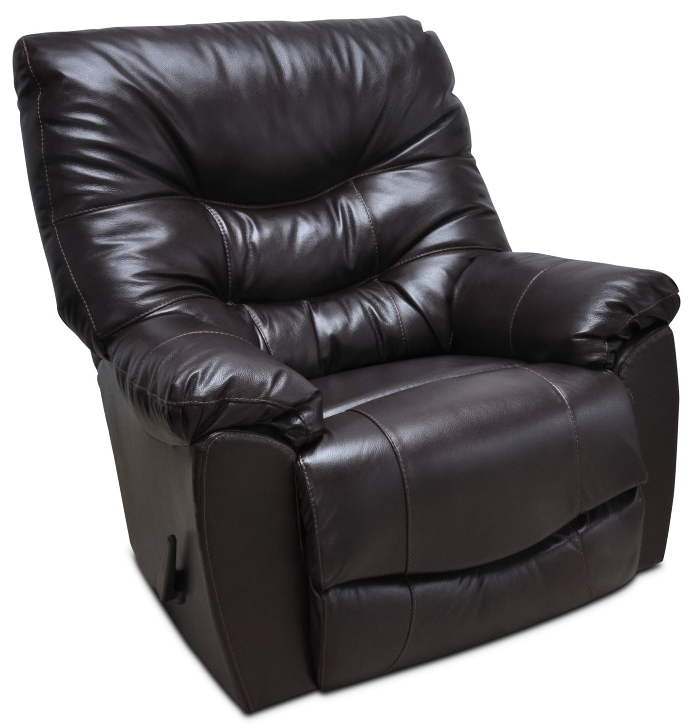 4595 Genuine Leather Rocker Reclining Chair – Espresso
