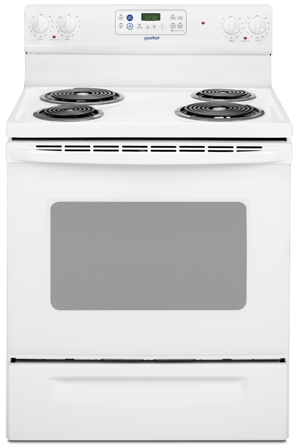 "Cooking Products - Moffat 30"" Free Standing Self Clean Electric Range - White"