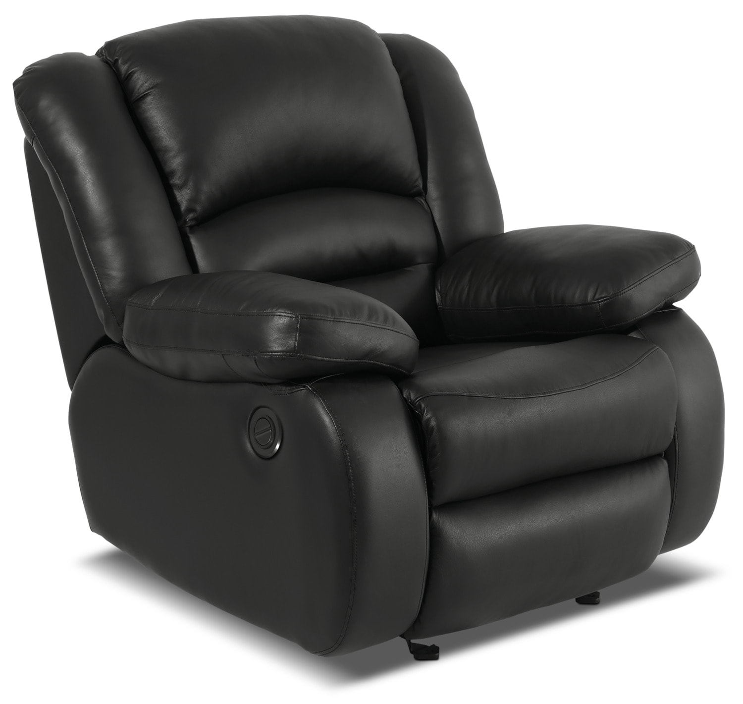 Living Room Furniture - Toreno Genuine Leather Power Reclining Chair – Black